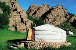 Bild  Mongolische / kirgizische Jurte