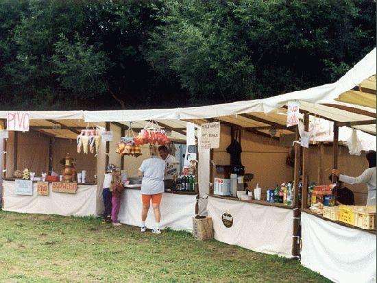 Bild  Mittelalter Marktstand Market
