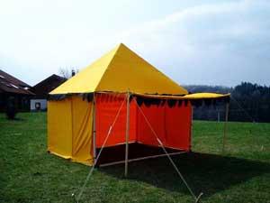 Bild  Mittelaltermarkt Verkaufsstand Pyramis